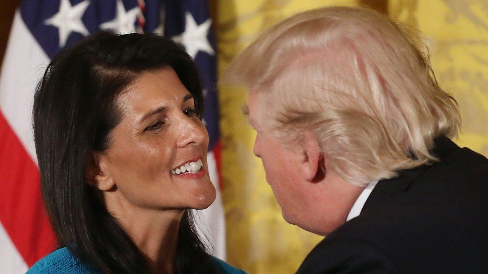 Nikki Haley og Donald Trump