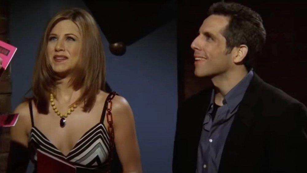 Ben Stiller og Jennifer Aniston på Venner