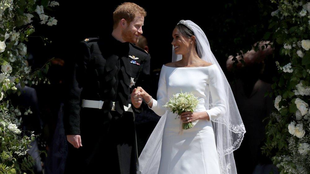 Meghan Markle og prins Harry i bryllupet deres