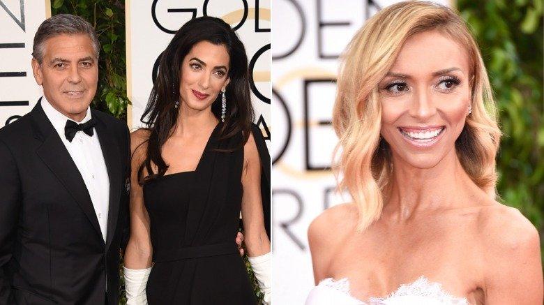 George Clooney, Amal Clooney og Giuliana Rancic på Golden Globe Awards 2015