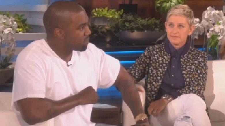 Kanye West og Ellen DeGeneres