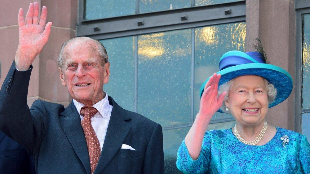 Prins Philip og dronning Elizabeth på Roemer Rådhus i Frankfurt i 2015