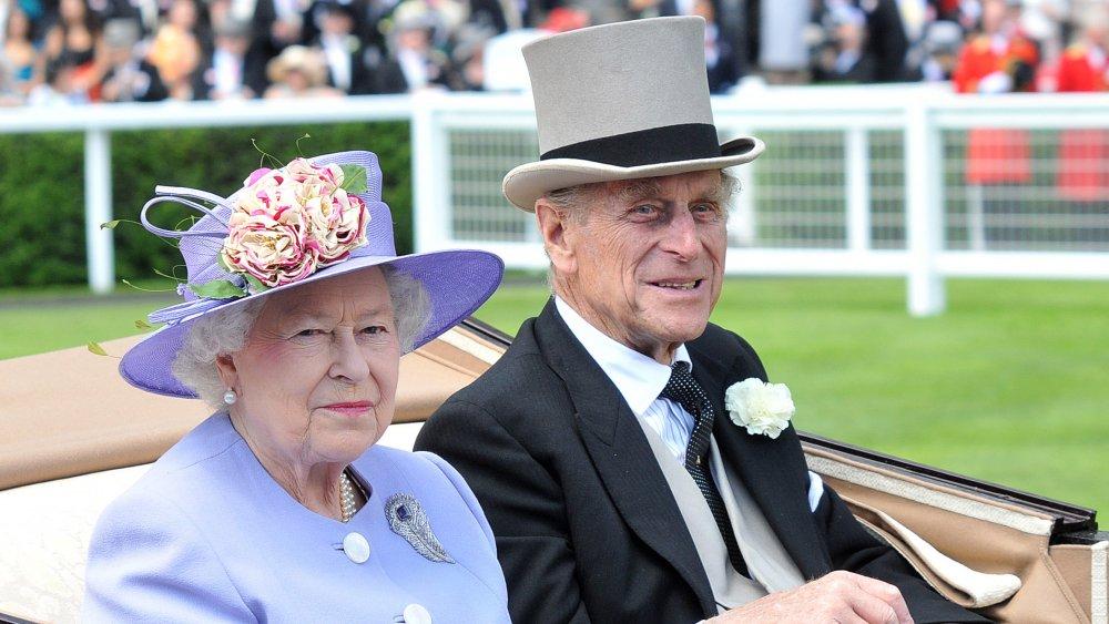 Dronning Elizabeth og prins Philip på Royal Ascot Ladies Day i 2010