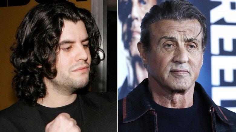 Sage Stallone og Sylvester Stallone