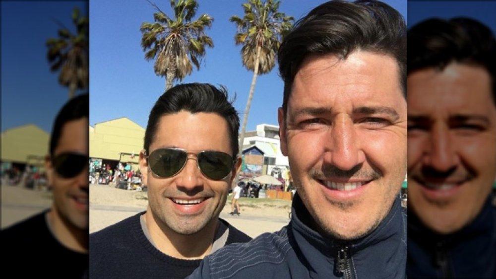 Harley Rodriguez og Jonathan Knight i en selfie