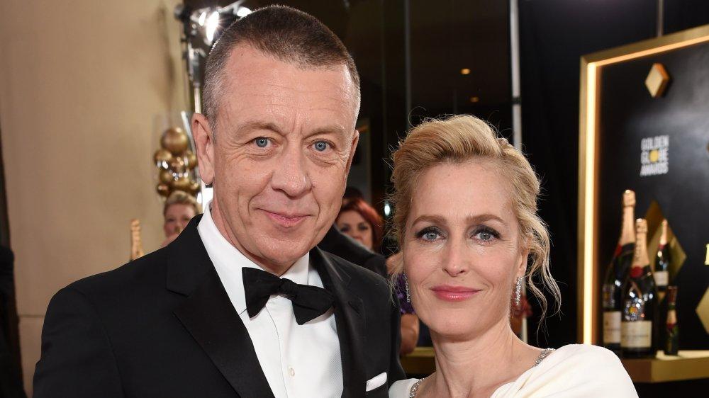 Peter Morgan og Gillian Anderson på Golden Globes
