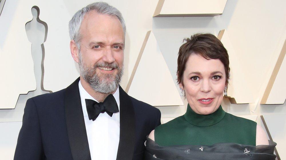 Olivia Colman og Ed Sinclair på Golden Globes