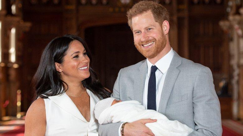 Meghan Markle, prins Harry og sønnen Archie Mountbatten-Windsor