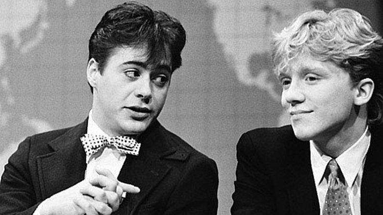 Robert Downey Jr. og Anthony Michael Hall på SNL