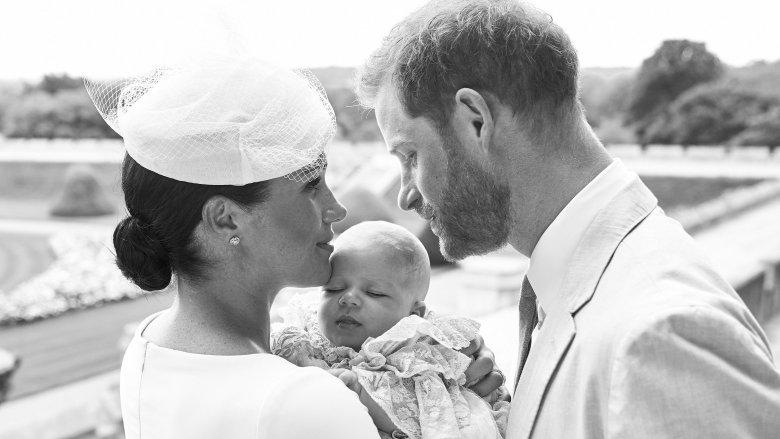 Meghan Markle, prins Harry med babyen Archie