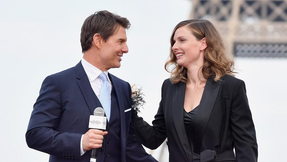 Rebecca Ferguson og Tom Cruise
