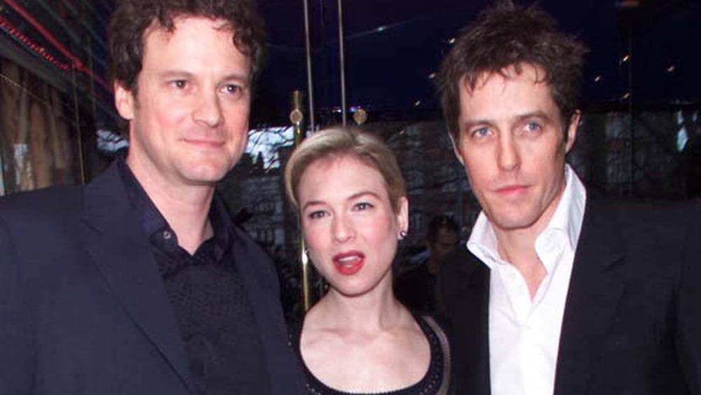 Colin Firth, Renee Zellweger og Hugh Grant på den britiske premieren av Bridget Jones's Diary