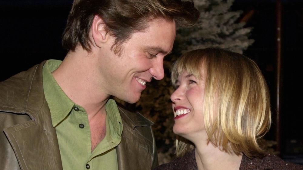 Jim Carrey og Renee Zellweger på How the Grinch Stole Christmas-premieren