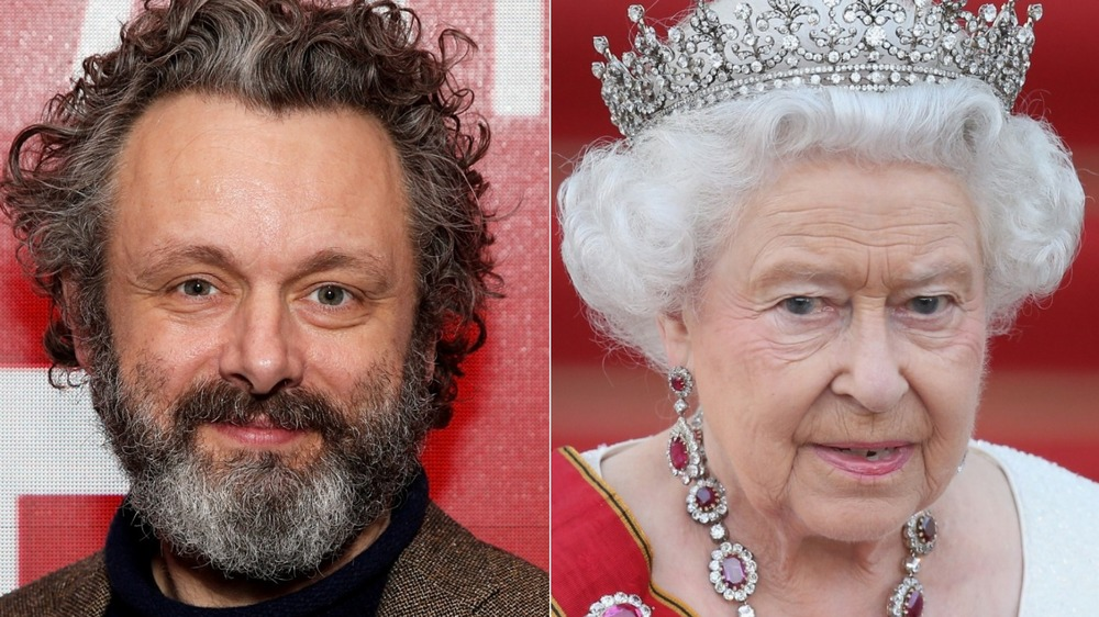 Michael Sheen og dronning Elizabeth II