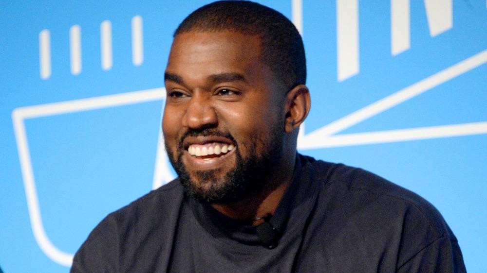 Kanye West smiler