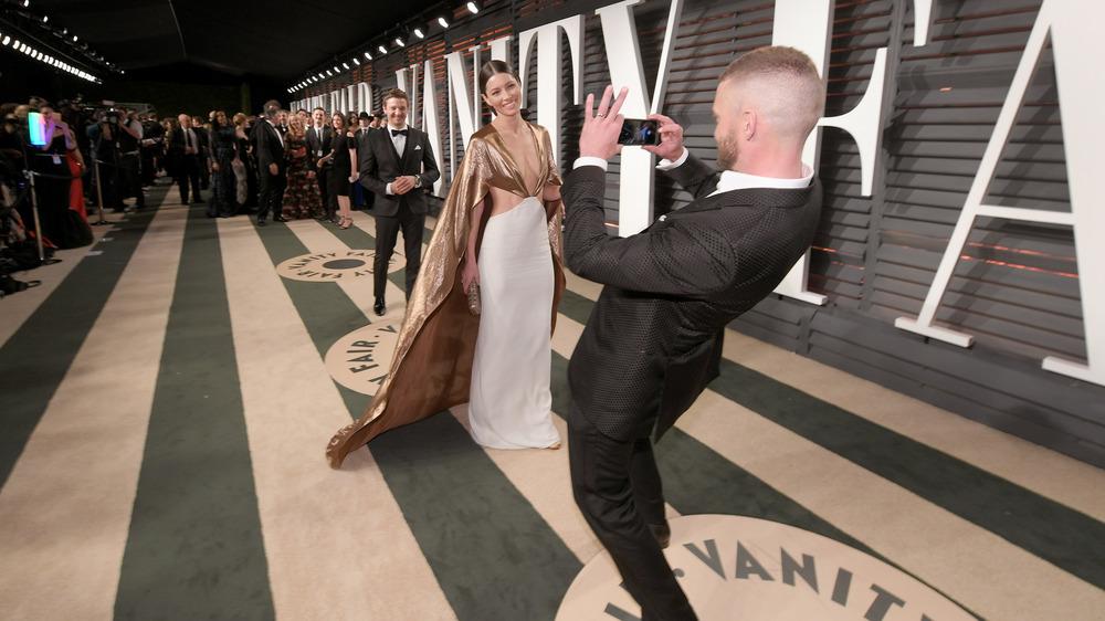 Justin Timberlake tar et bilde av kone, Jessica Biel
