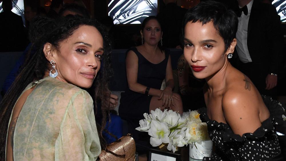 Lisa Bonet og datter, Zoe Kravtiz på prisutstilling
