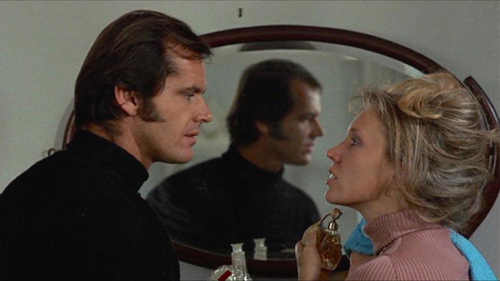 Jack Nicholson og Susan Anspach ser på hverandre