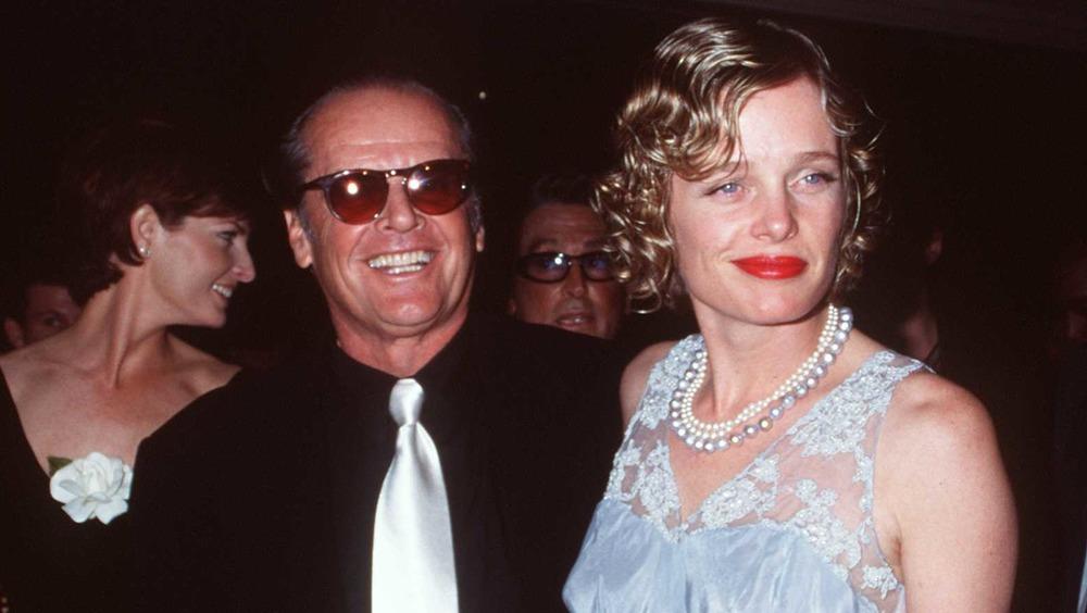 Jack Nicholson og Rebecca Broussard, smilende