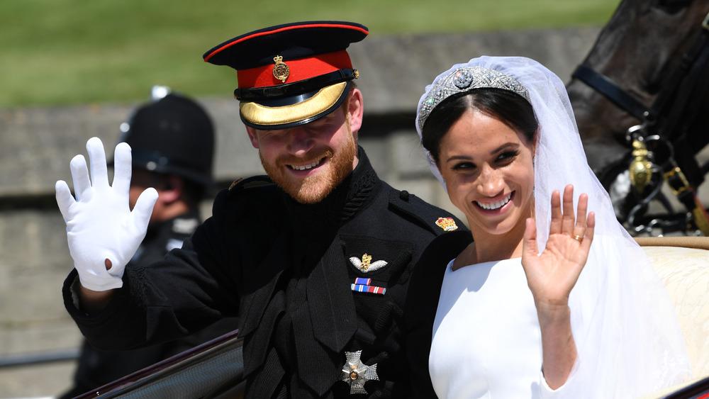 Prins Harry og Meghan Markle på bryllupsdagen