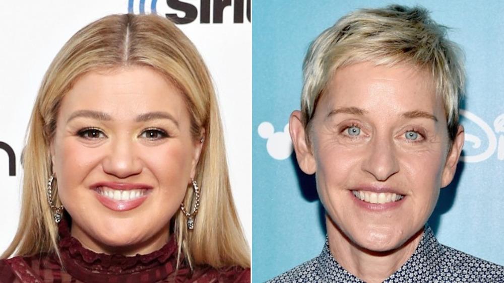 Kelly Clarkson, Ellen Degeneres smiler