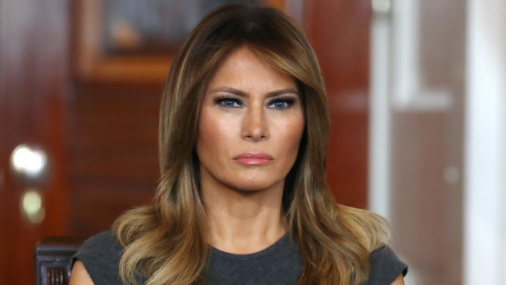 Melania Trump ser ulykkelig ut