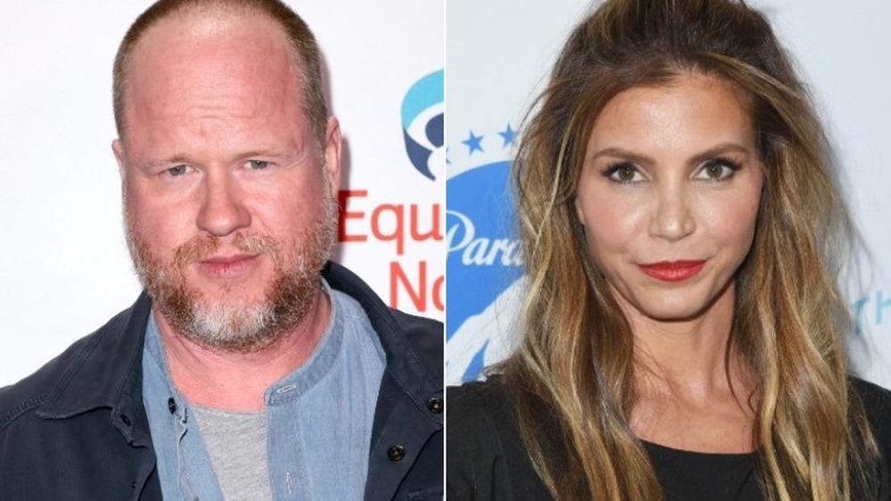 Joss Whedon og Charisma Carpenter ser alvorlige ut