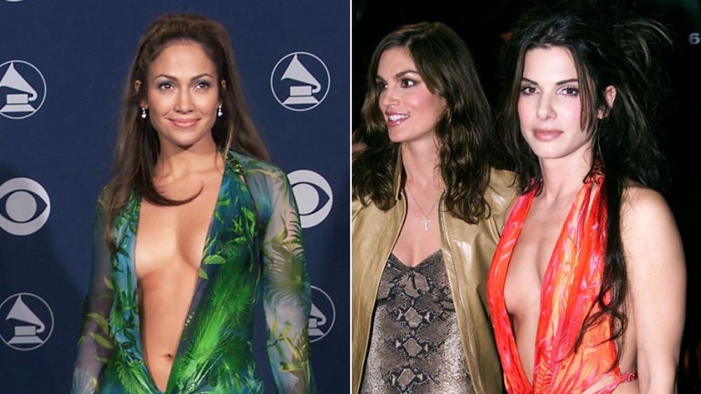 Jennifer Lopez og Sandra Bullock i samme kjole