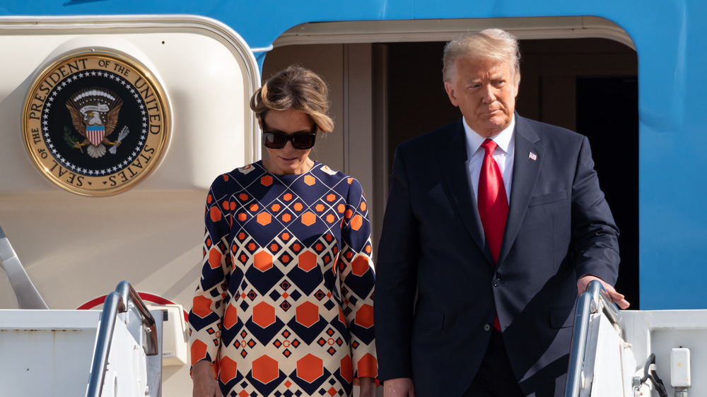 Melania og Donald Trump forlater Air Force One på innvielsesdagen