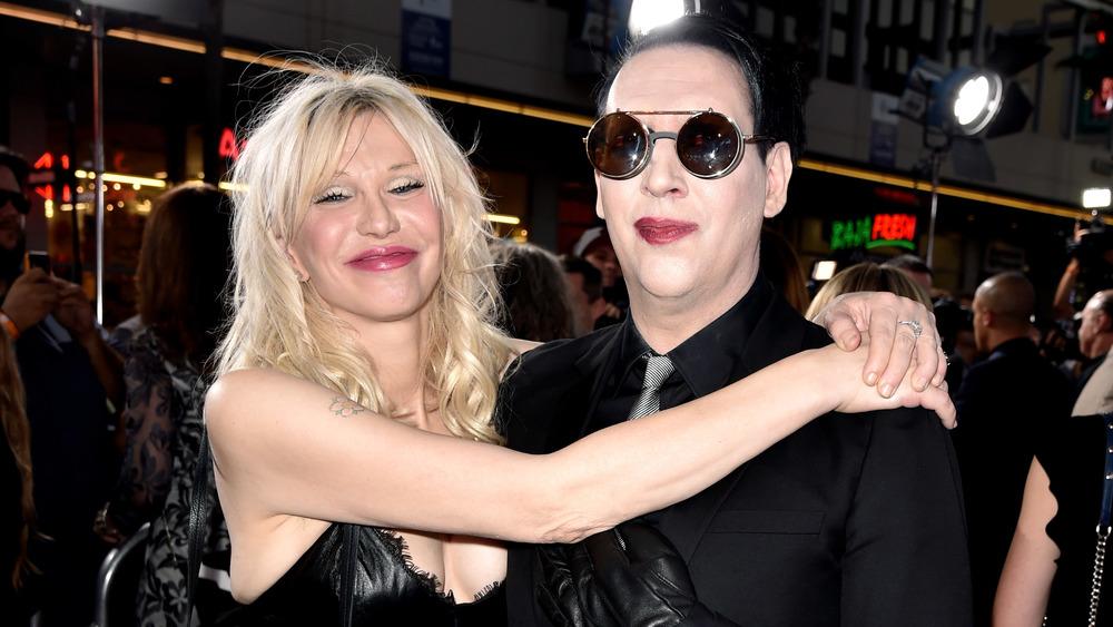 Courtney Love og Marilyn Manson