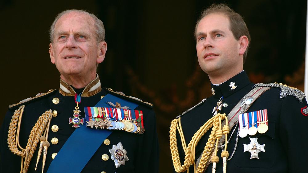 Prins Philip og sønnen prins Edward