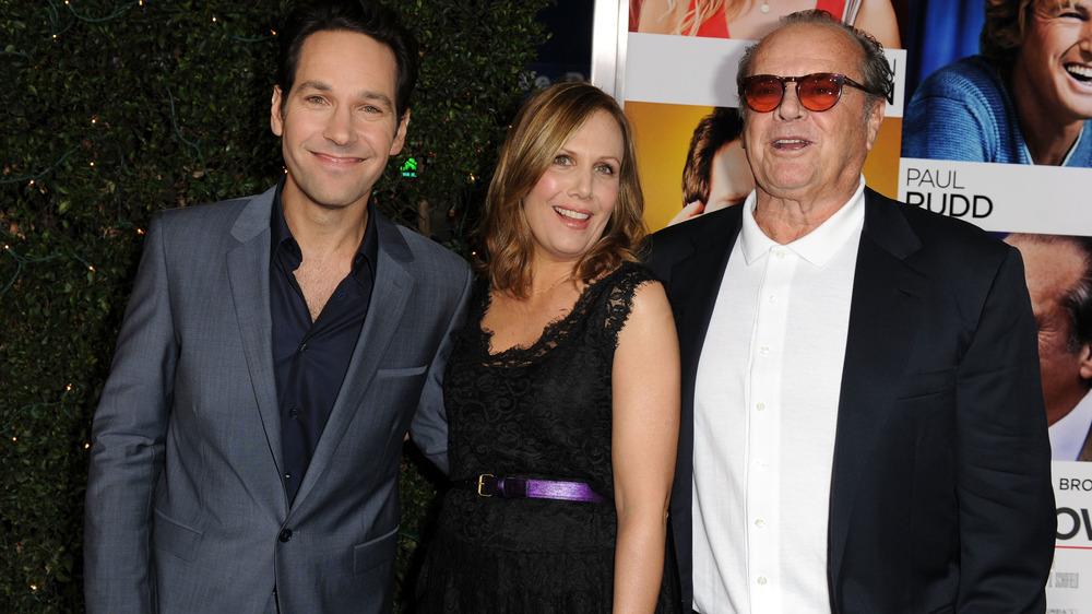Jack Nicholson og Paul Rudd, smilende