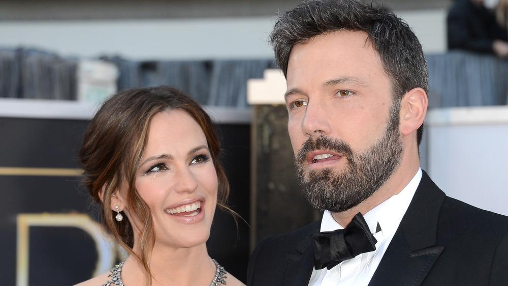 Ben Affleck og Jennifer Garner på en prisutstilling