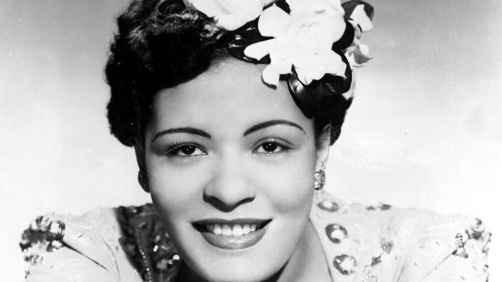Jazzsanger Billie Holiday stiller for et portrett