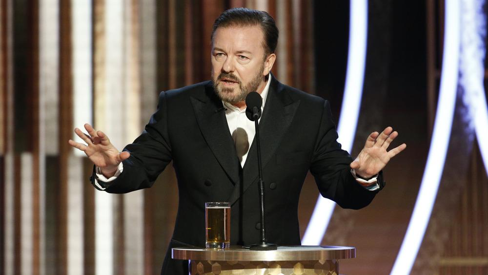 Ricky Gervais som er vert for Golden Globes