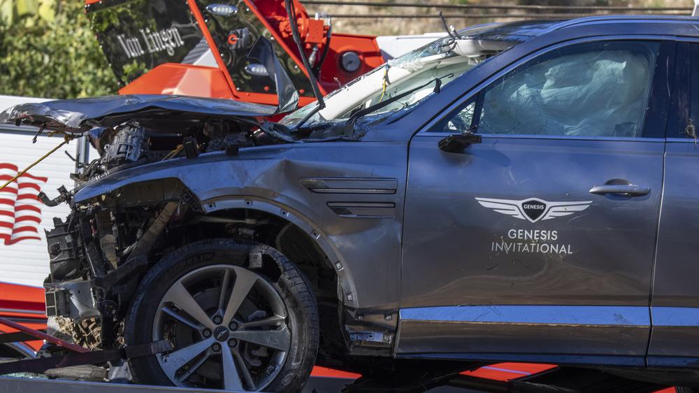 Tiger Woods 'krasjet bil