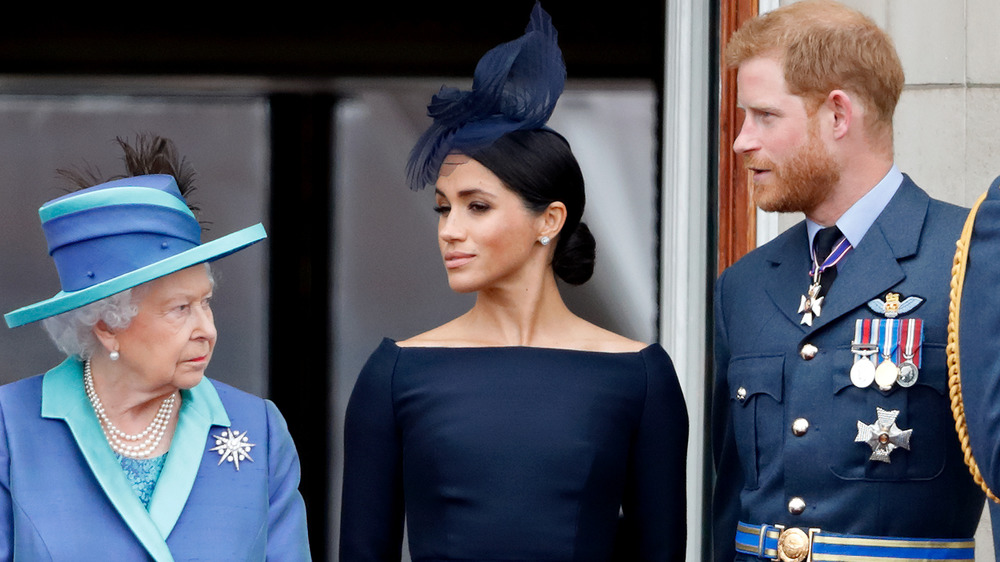 Dronning Elizabeth II, Meghan Markle, prins Harry