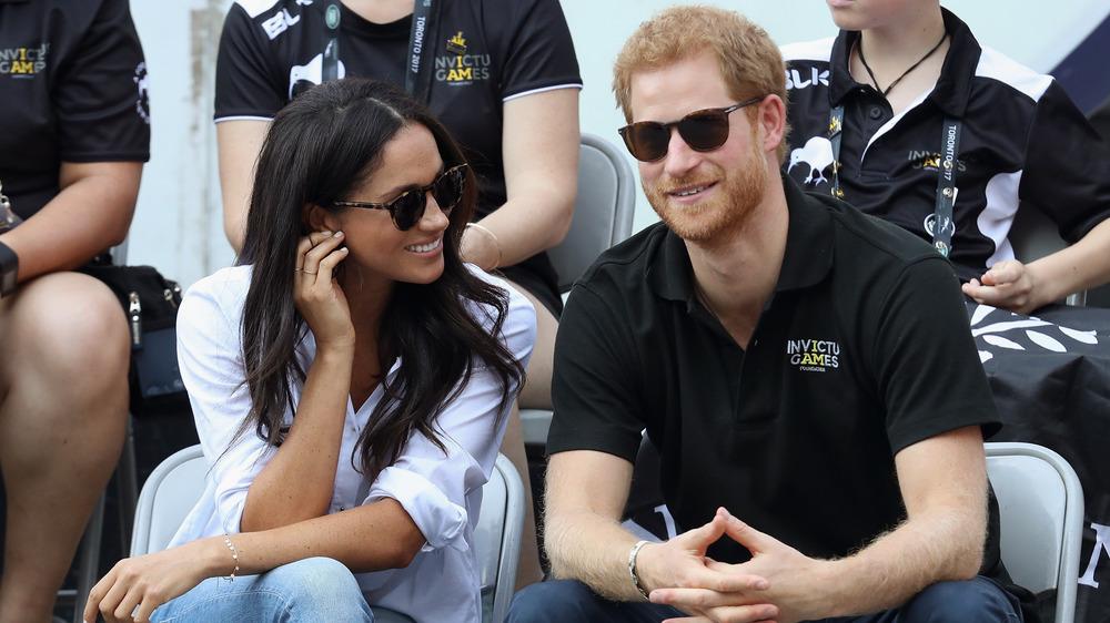Prins Harry og Meghan Markle gjorde sin første offentlige opptreden på Invictus Games