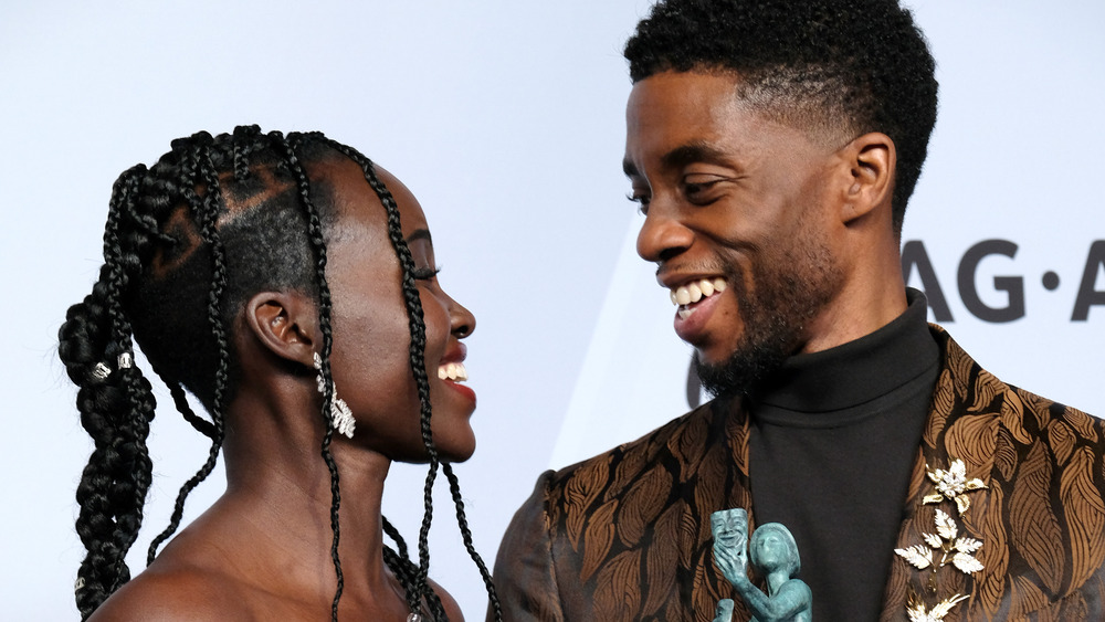 Chadwick Boseman og Lupita Nyong'o 2019