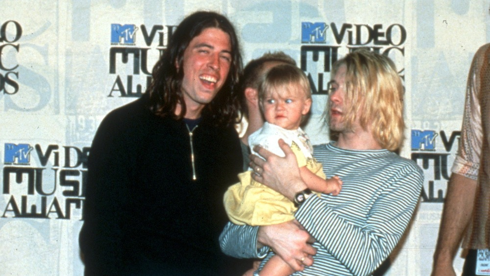 Dave Grohl, Frances Bean Cobain og Kurt Cobain