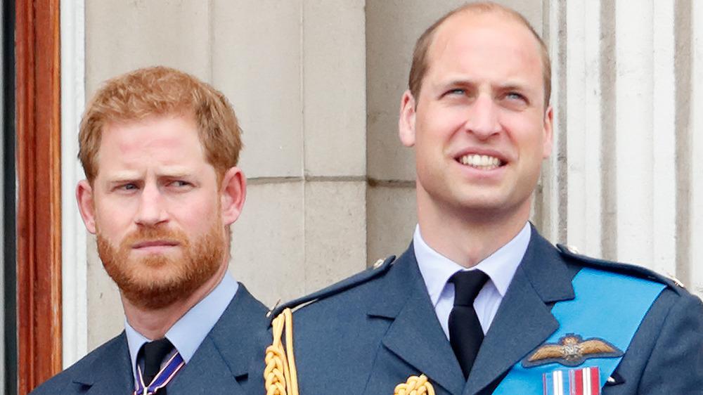 Prins Harry og prins William på et arrangement