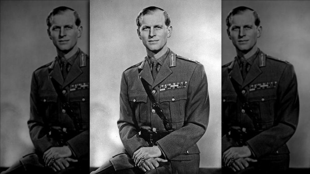 Prins Philip i militæruniformen