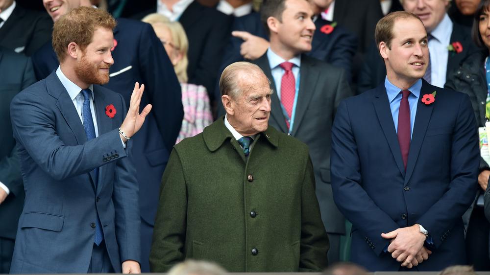 Prins Philip med prins William og prins Harry