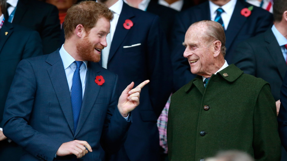 Prins Harry og prins Philip