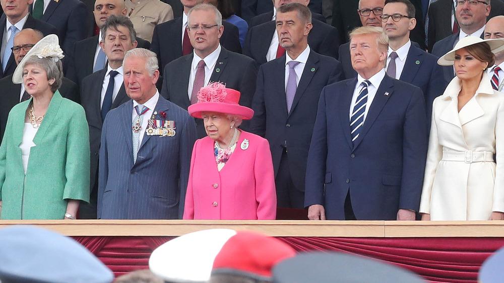 Donald Trump og dronning Elizabeth II