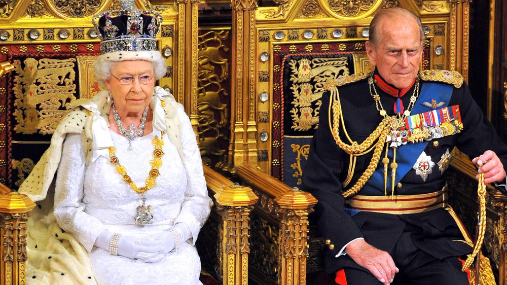 Dronning Elizabeth og prins Philip på et arrangement