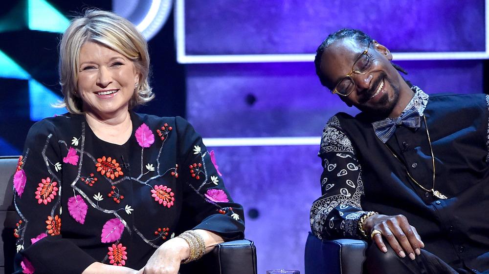 Martha Stewart og Snoop Dogg på The Comedy Central Roast of Justin Bieber