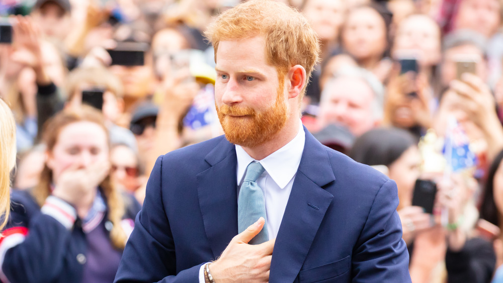 Prins Harry blå dress