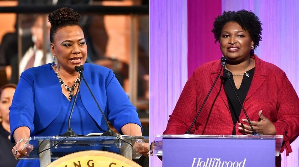 Bernice King og Stacey Abrams side om side