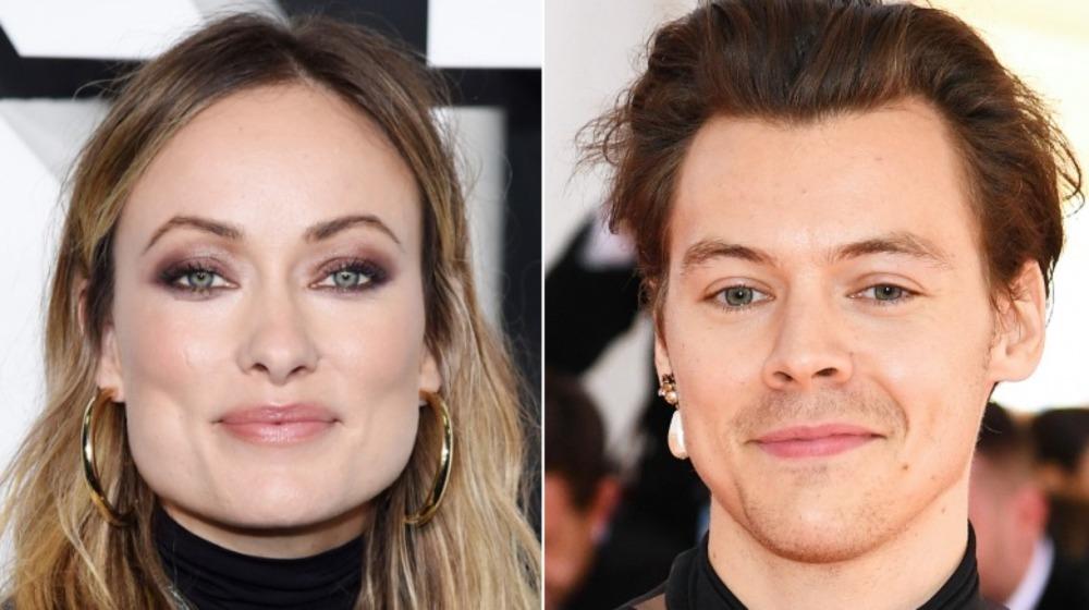 Olivia Wilde og Harry Styles smiler